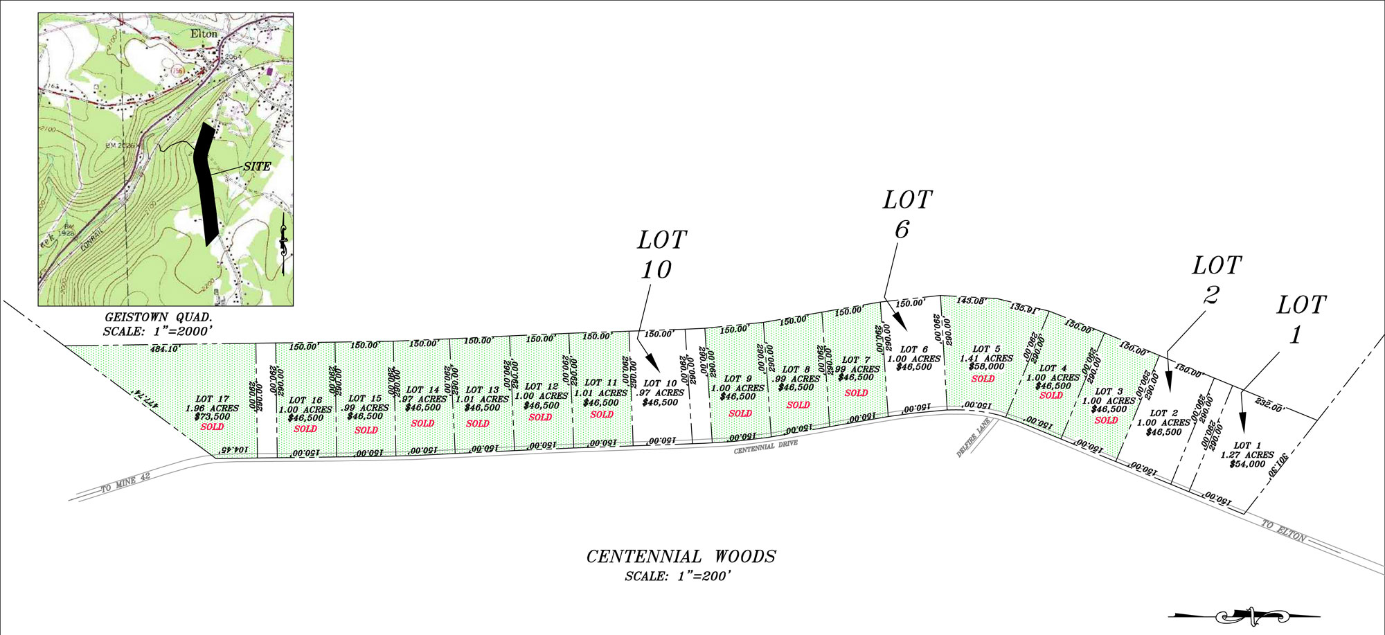 Centennial Woods Subdivision Lot No 1 Berwind Natural Resources